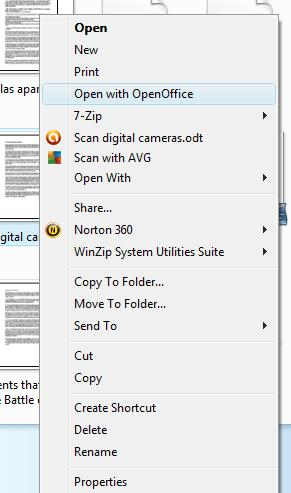 How to add OpenOffice to right-click context menu in Windows