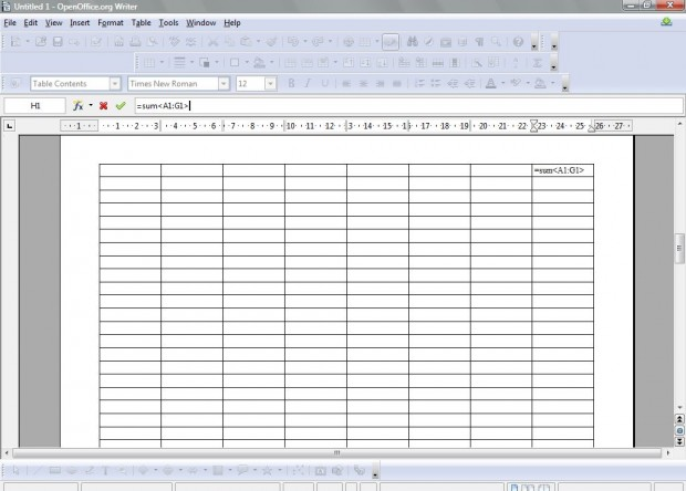 OpenOffice spreadsheet3