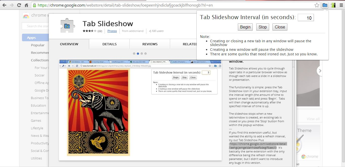 how to turn google chrome tabs into slideshows tip dottech