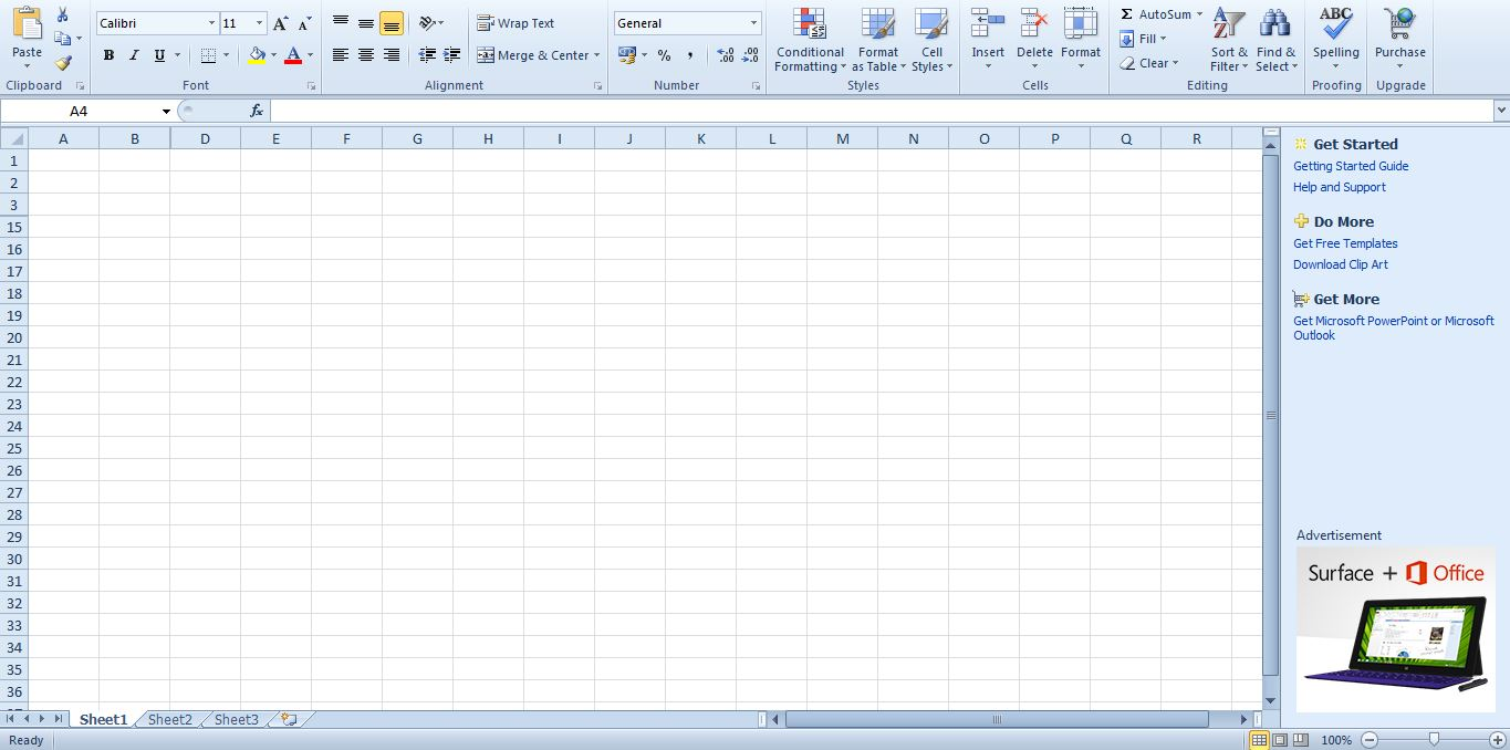 how to show rows and columns in excel