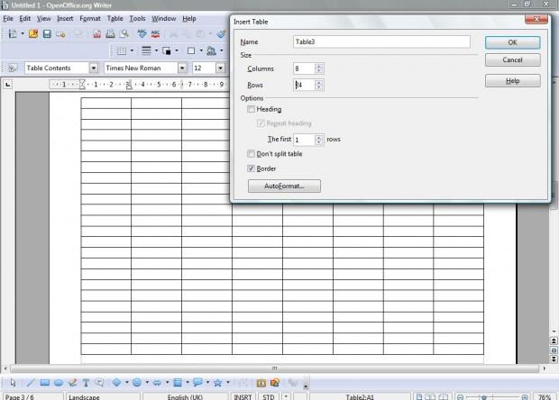 openoffice spreadsheet2