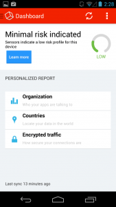 viaProtect for Android Risk Report