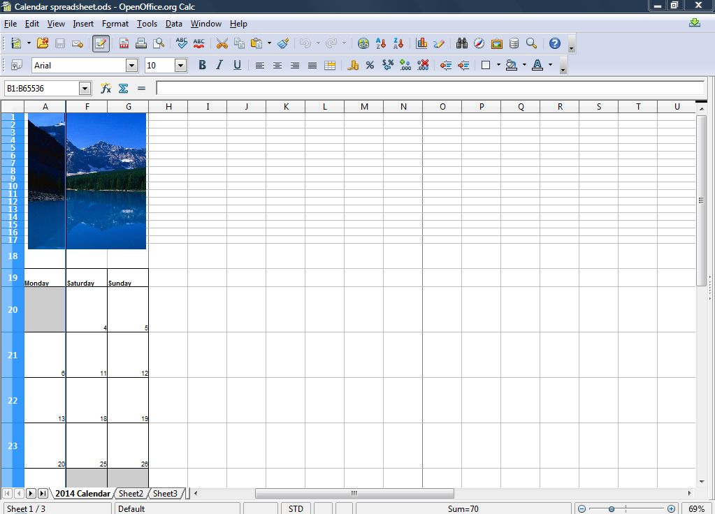 now move the scroll bar to the right and the frozen column remain stationary on the left of the spreadsheet