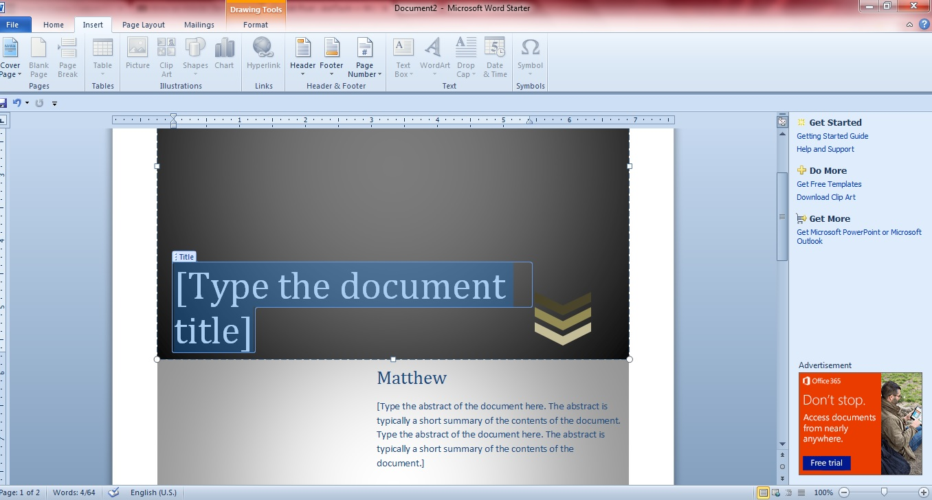 cover document template
