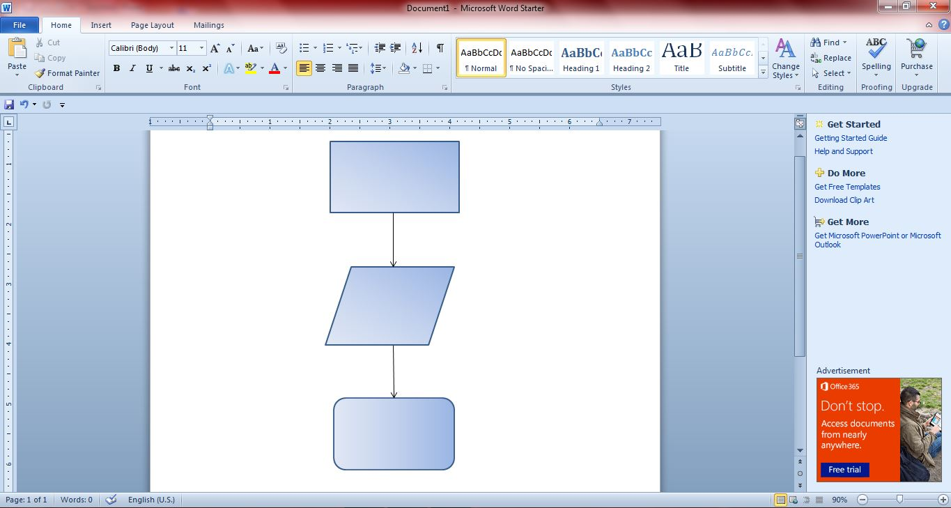 How to create flowcharts with microsoft word 2010 and 2013 guide flowchart3 nvjuhfo Gallery