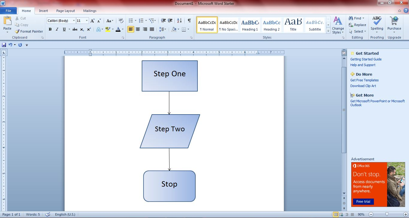 How to create flowcharts with Microsoft Word 2010 and 2013 [Guide ...