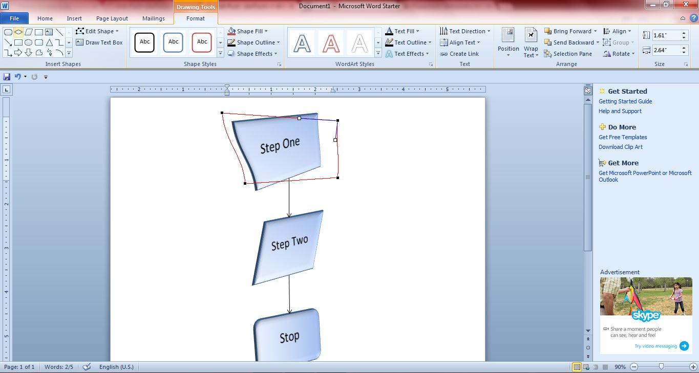 Flowchart6  Flow Chart Format In Word