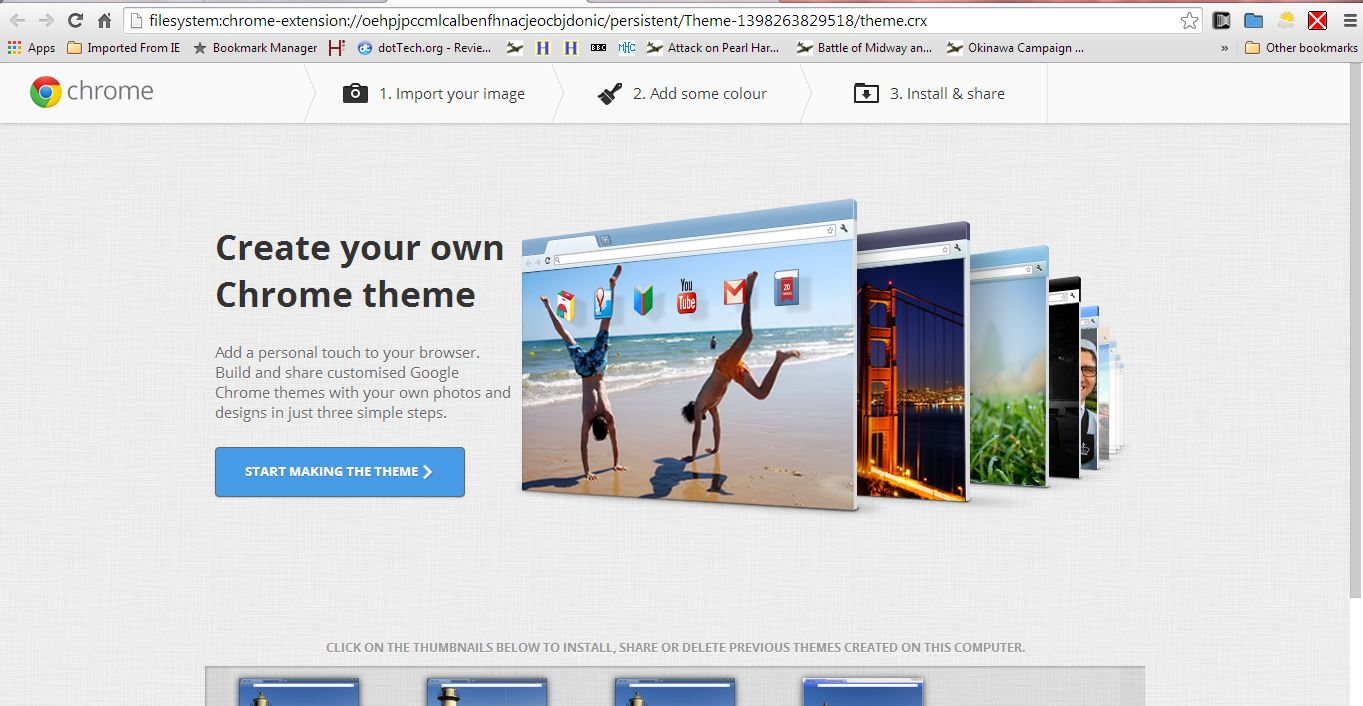 How to add your own theme to Google Chrome [Tip] | dotTech