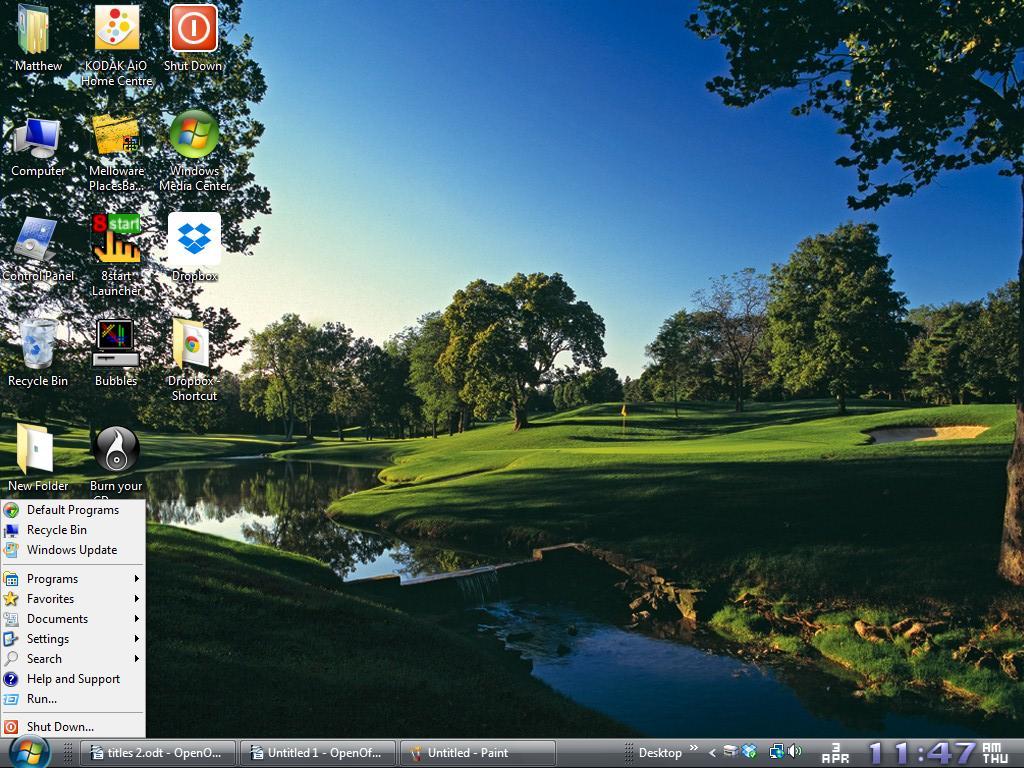 how to change start menu icon size windows 7
