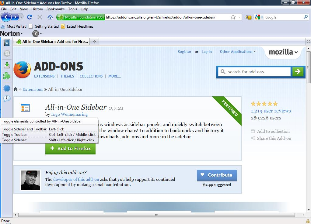 How to add an Opera-style sidebar panel to Firefox [Guide