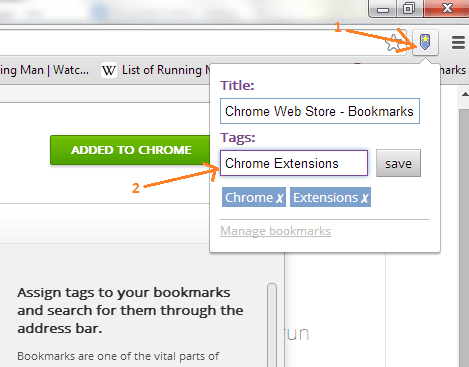 Add Tags to New Bookmarks Chrome