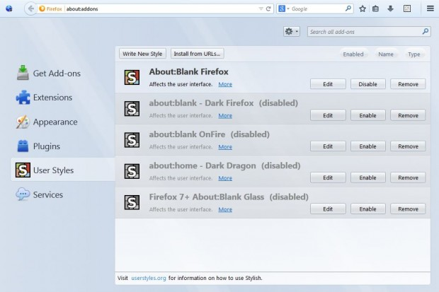 Firefox new tab page3
