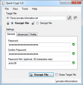Quick Crypt for Windows