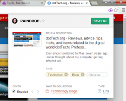 Raindrop.io for Chrome