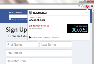 StayFocusd for Chrome Timer