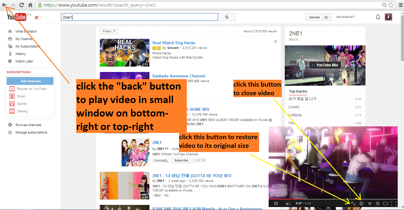 Tip-search youtube while watching video