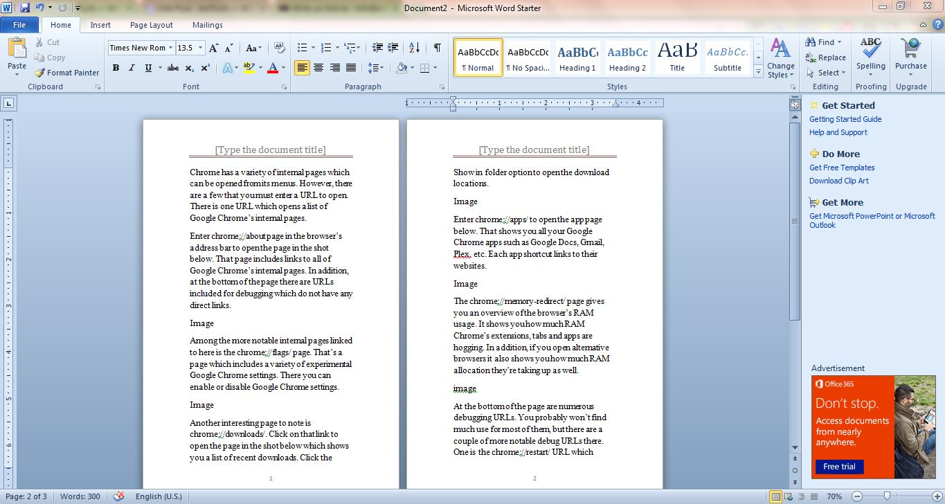 How to set up a booklet document with Microsoft Word 2010/2013 ...