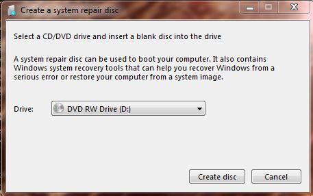 system repair disc2