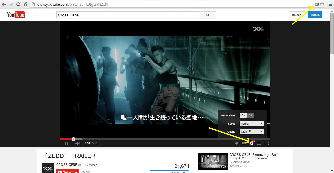 Auto Play YouTube in HD