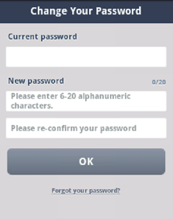 Change Line Password