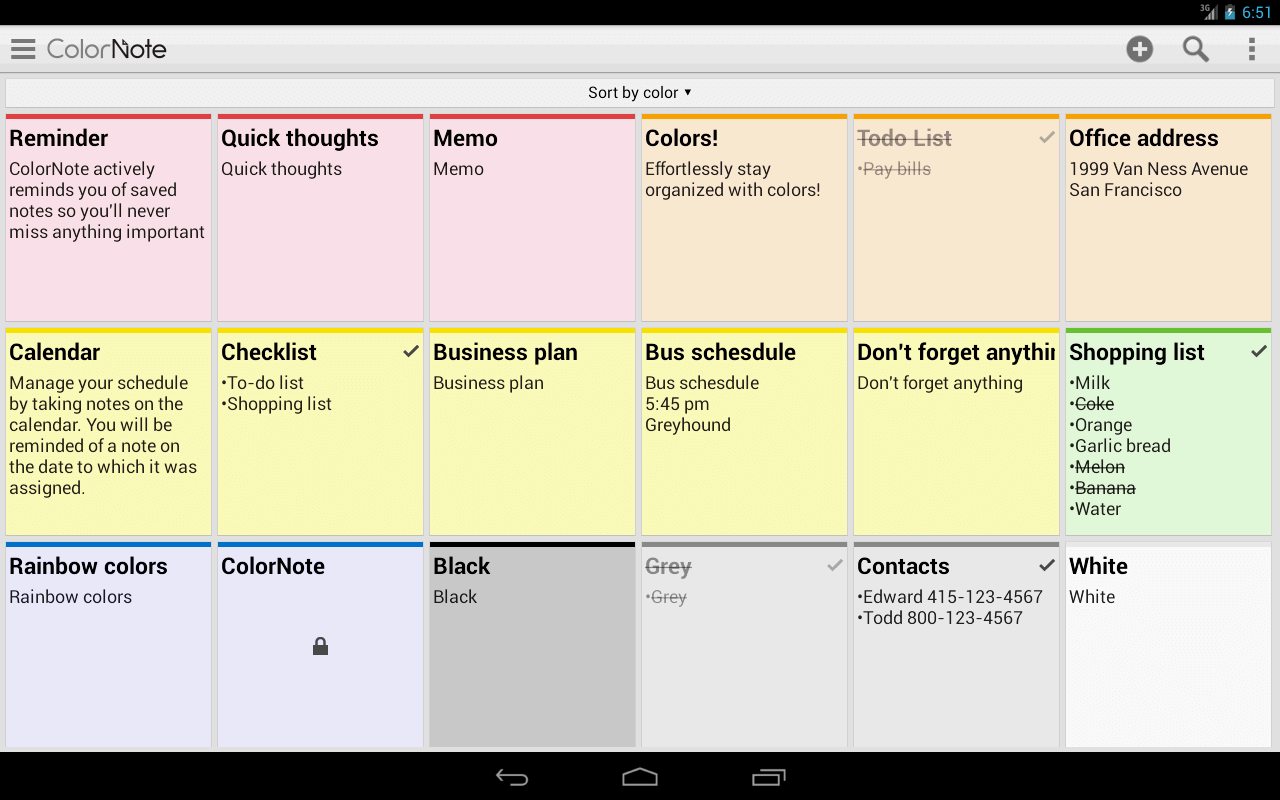 Android Colornote Is A Simple Yet Powerful Note Taking