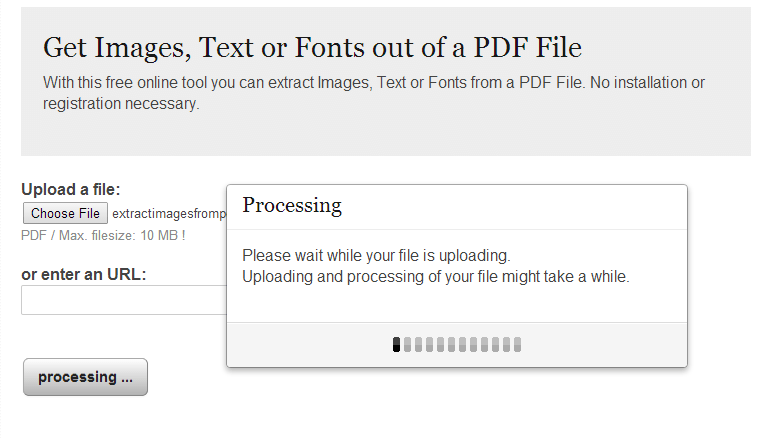 Extract Images from a PDF
