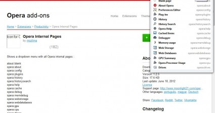 Opera pages