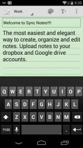 Sync Notes for Android App