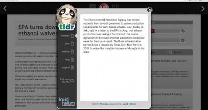 TLDR for Chrome