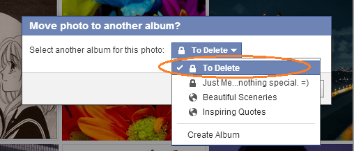 delete multiple photos on fb f