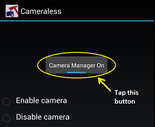 disable Android device camera