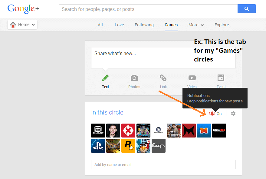 disable Google Plus notifications c