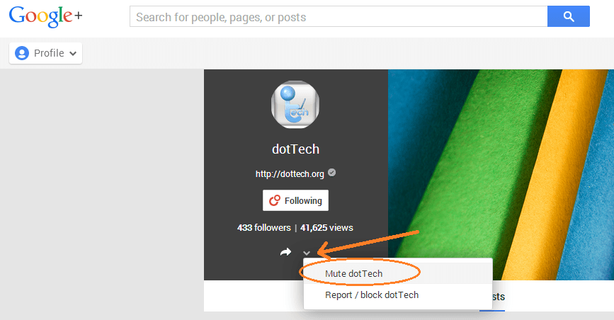 disable Google Plus notifications d
