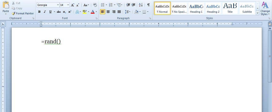 how to add lorem ipsum in word