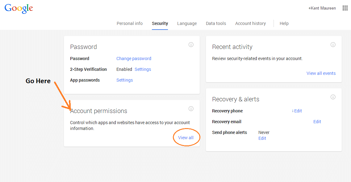 revoke app access Google account d