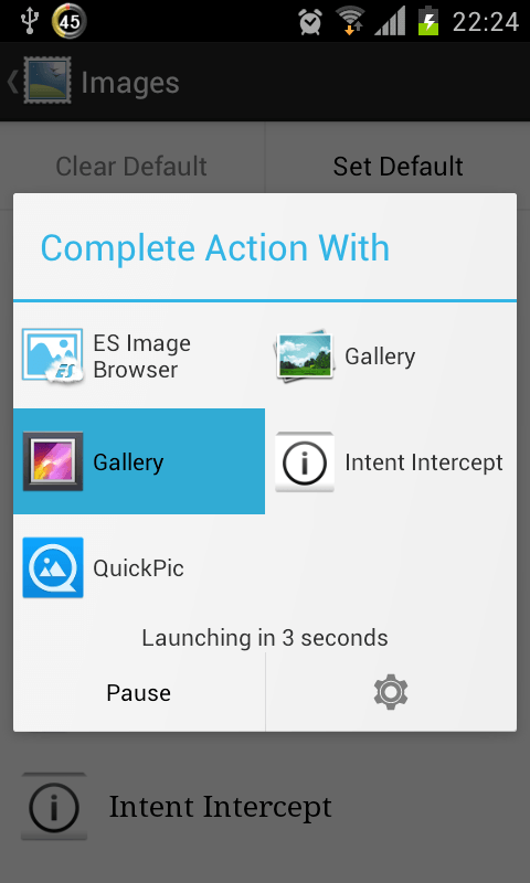 Android] Change the default app for specific tasks and file