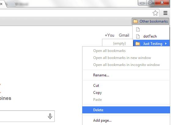 Delete Other Bookmarks Bar 2