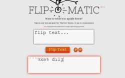 Flip-O-Matic Flip Text Upside Down