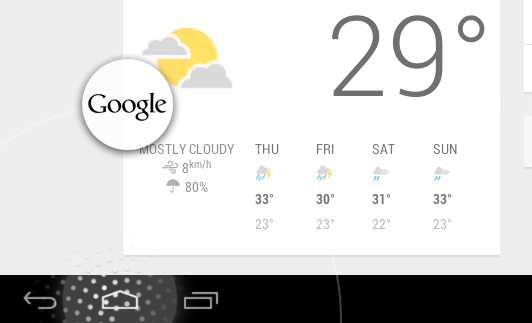 Go to Google Now Android