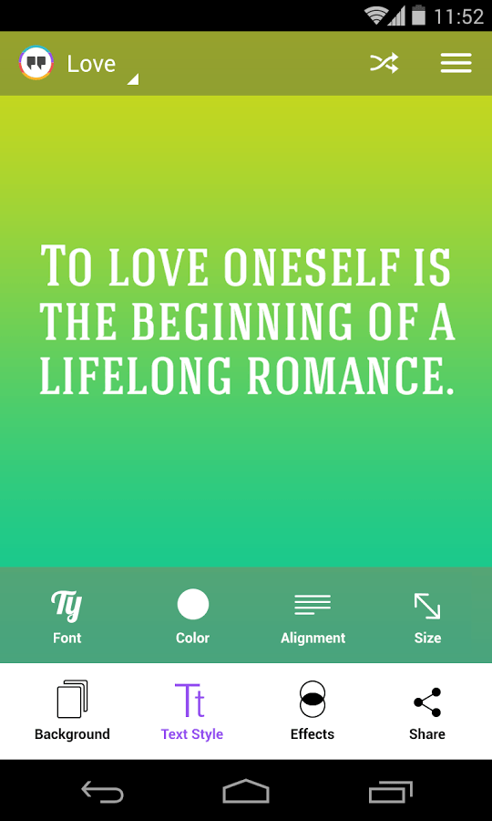 Android Create And Share Your Own Picture Quotes With Kwote Dottech