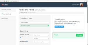 Twibble Add New Feed