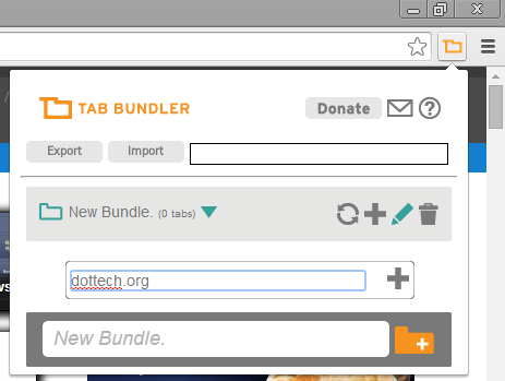 add new tabs to bundle