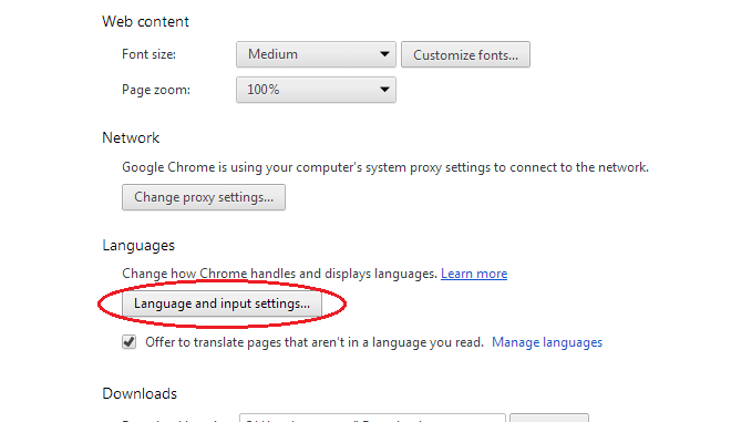 edit Chrome spell check dictionary