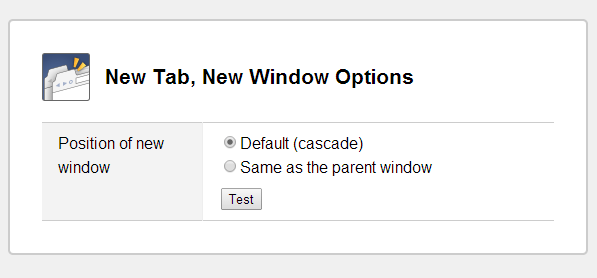 new tab new window options