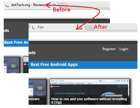 rename tab titles on Chrome