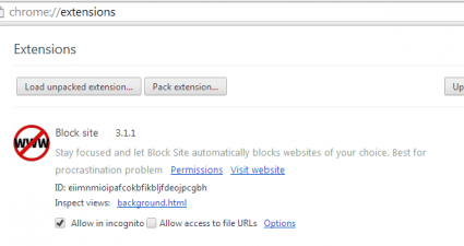 Block site for Chrome