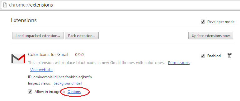 Color Icons for Gmail