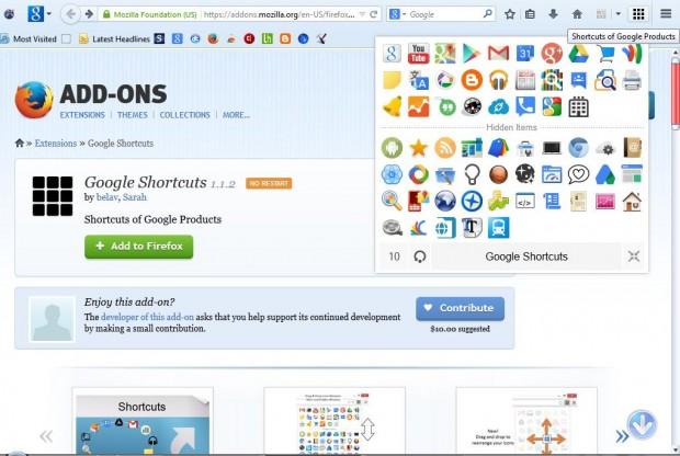 Google shortcuts2