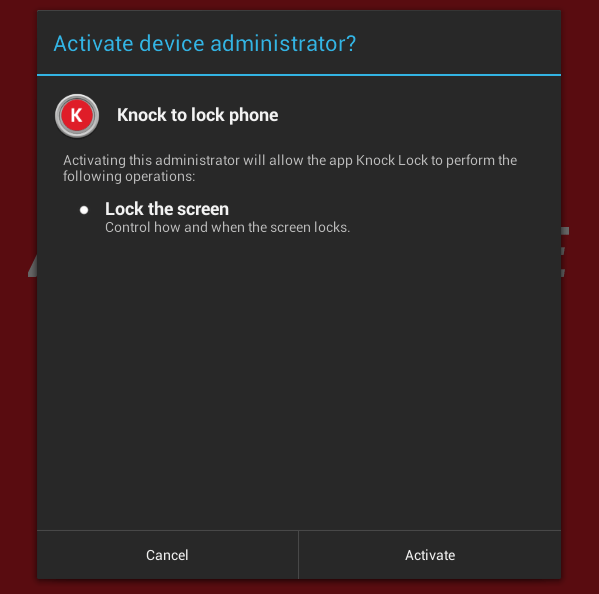 Knock Lock for Android b