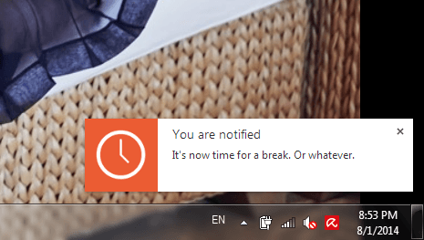 Simple break reminder on Chrome